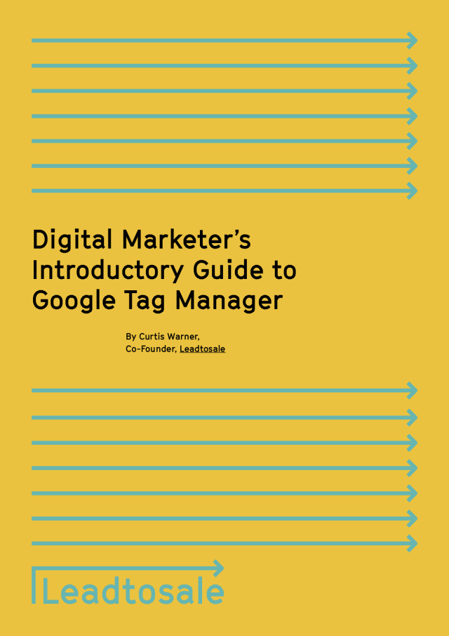 Our book has a cover! Google Tag Manager ebook